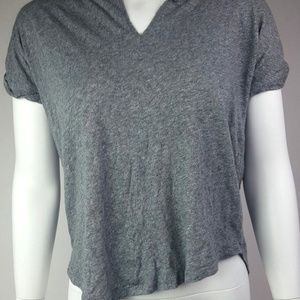 Madewell Asymmetrical Gray Top XS